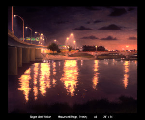 Monument Bridge Evening 24x34