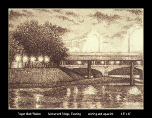 Monument Bridge Evening 4.5x6